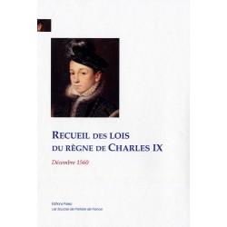 Recueil des lois du règne de Charles IX